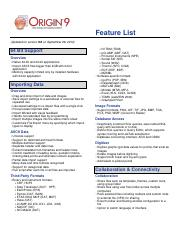 FeatureList90 - Feature List(Updated for version 9 0 on 64 Bit
