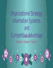 Lecture 3 - Organization Strategy, Information Systems & Competitive Advantages.pptx