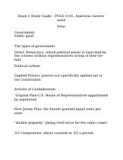 American govt. study guide 1