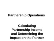 Unit 3 - Partnership Income and Impact on Outside Basis