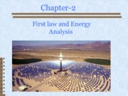 Chapter 2_First law and Energy Analysis1