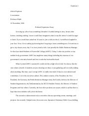 Political Experience Paper