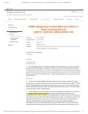 HSBC (Malaysia) Trustee Bhd and Others ...te Ltd[2007] 1 SLR 65; [2006] SGHC 193.pdf