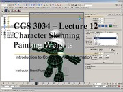 Lecture 10 - Character Skinning