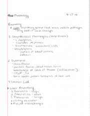 BSC 312 Respiratory Notes