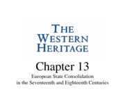 Chapter 13-The Western Heritage
