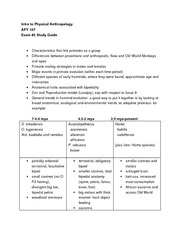 APY107 - Exam 2 Study Guide