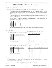 Tutorial 1 - Answers
