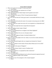 Exam 4 Review Questions