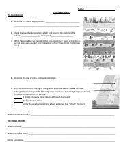 Relative dating of fossils worksheet