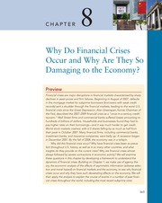 Chapter 8 Why Do Financial Crises Occur and Why Are They So Damaging to the Economy(1)