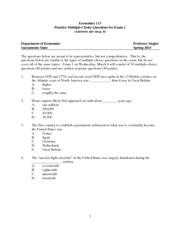 economics 101 multiple choice questions for