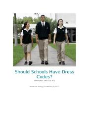 Should Schools Have Dress Codes.docx