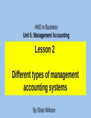 339956425-Lesson-2-HND-in-Business-Unit-5-Management-Accounting