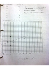 Regression and residual worksheet