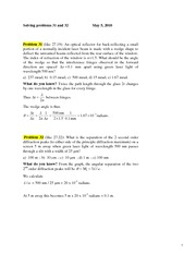 PROBLEM 31 & 32 May 05 2010