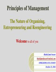The Nature of Organizing, Entrepreneuring and Reengineering.pdf