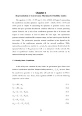 Power System Stability chapter5