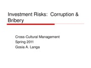 2 Investment Risks Corruption and Bribery