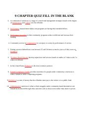 9 Chapter Quiz completed