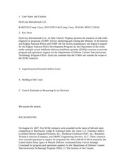 Case Brief DynCorp
