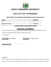 MARKETING - University of South Africa - Course Hero