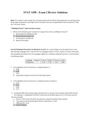 Exam 2 Review - Solutions - AU 13-1