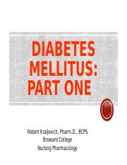 Diabetes Part One 2015 TEST REVIEW.ppt