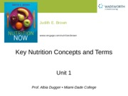 Ch 1 Nutritional Concepts