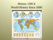 History 150C4 2013 Introduction