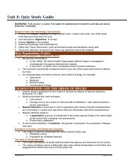 Unit 8 Study Guide_Formatted