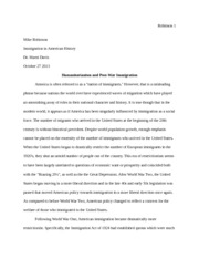Immigration History paper 2