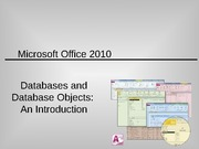 Databases and Database Objects Lecture Slides