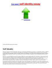 Self-Concept Essay Papers