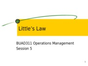 Session 5 Little's Law