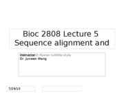 lect 06 HMM alignment