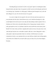 personal statement for honors program example