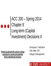 #12 CH8 FLIP CLASS TWO MOODLE ACC200 LTC Invest - Spring 2014.pptx
