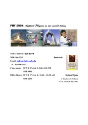 PHY2004 Lectures 1.2.3