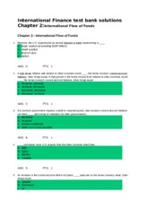 Chapter 2 - International Flow of Funds - Quiz