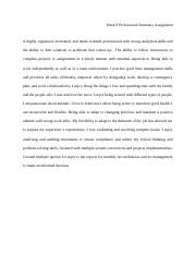 COLL148 Week 8 Professional Summary Assignment.docx