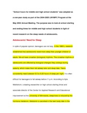 Persuasive essay on school hours