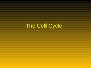 Cell Cycle1
