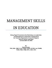 MANAGEMENT SKILLS IN EDUCATION.doc
