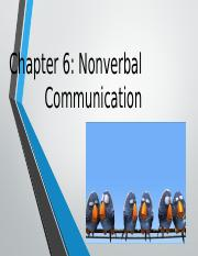 Chapter 6-Nonverbal Comm