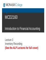 c+Student+MCD2160+Trim1+2016+PreLecture+3+Inventory+Recording