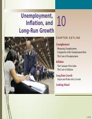 Chapter 10-Inflation  Unemployment