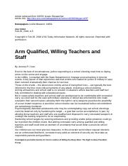 Arm Qualified, Willing Teachers and Staff.docx