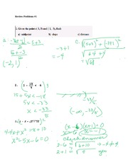 Review Problems 1 with Answers