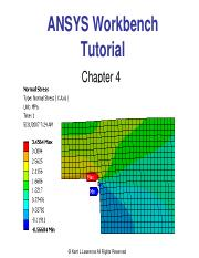 Lawrence Ansys Workbench Tutorial Ch 4 pdf - ANSYS Workbench